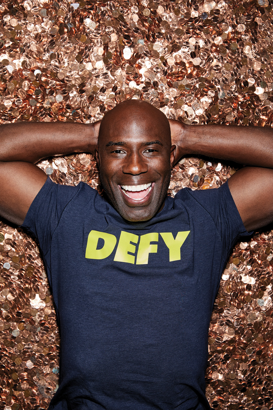 Terrell Davis laying in pennies for defy