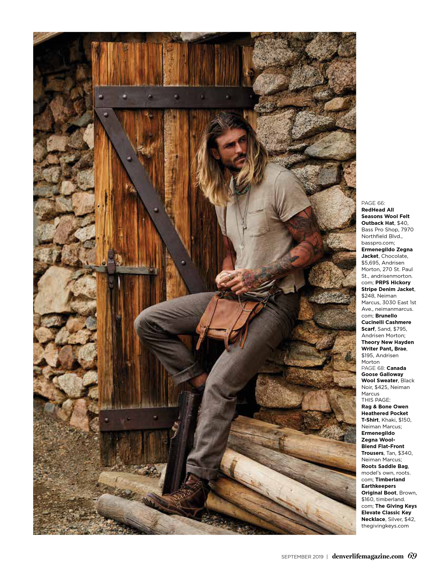 portrait of male model at mt evans in colorado denver life magazine