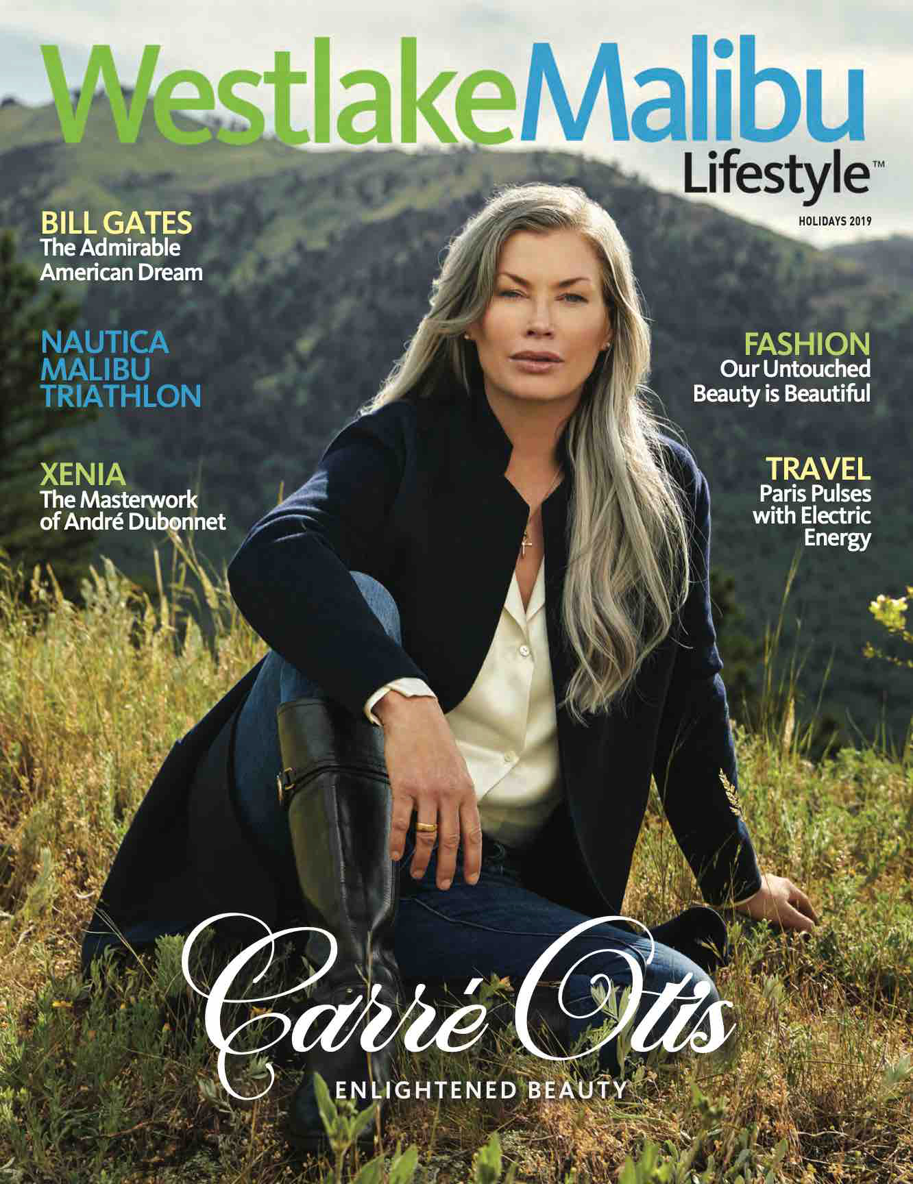 Supermodel Carre Otis shot for malibu california magazine in boulder colorado by jeff nelson